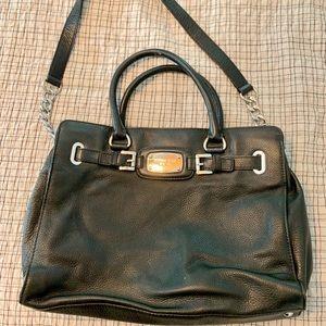 Michae Kors Black Leather Hamilton Bag
